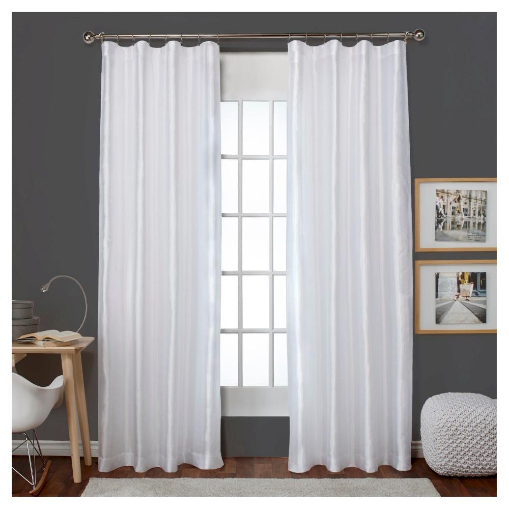 Bolero Faux Silk Blackout Thermal Curtain Panels Pair Winter (54