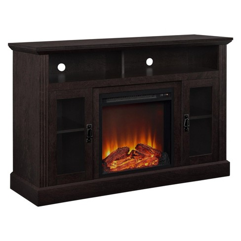 Pinnacle Point 50 Fireplace Tv Console Espresso Room Joy Target