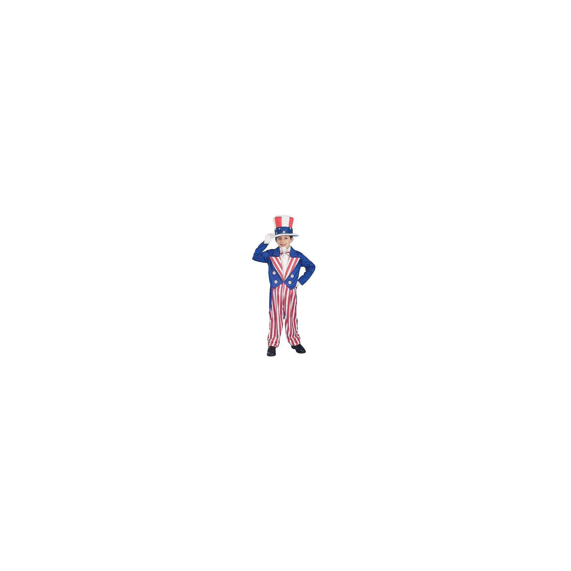 Halloween Kids' Uncle Sam Costume Medium (7-8), Men's