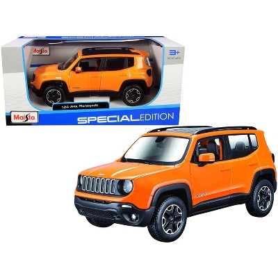"""Jeep Renegade Orange Metallic with Black Top """"Special Edition"""" 1/24 Diecast Model Car by Maisto"""