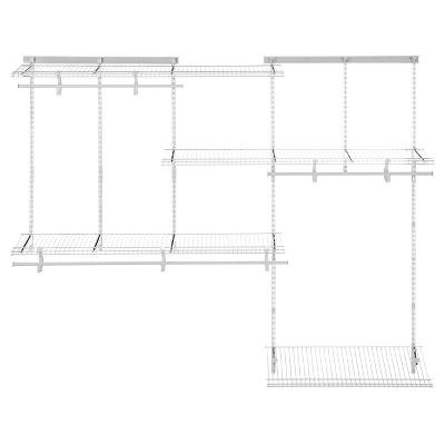 ClosetMaid ShelfTrack Expandable Closet Kit   5ft To 8ft