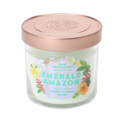 4oz Lidded Glass Jar Candle Emerald Amazon - Signature Soy
