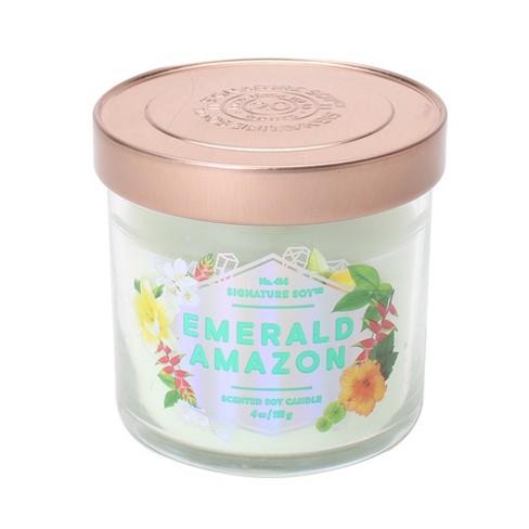 4oz Lidded Glass Jar Candle Emerald Amazon - Signature Soy - image 1 of 1