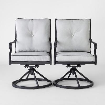 Chester 2pk Aluminum Swivel Rocker Patio Dining Chair   Threshold™