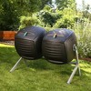 Two 50 Gallon Dual Compost Tumbler s - Black - Lifetime - image 2 of 4