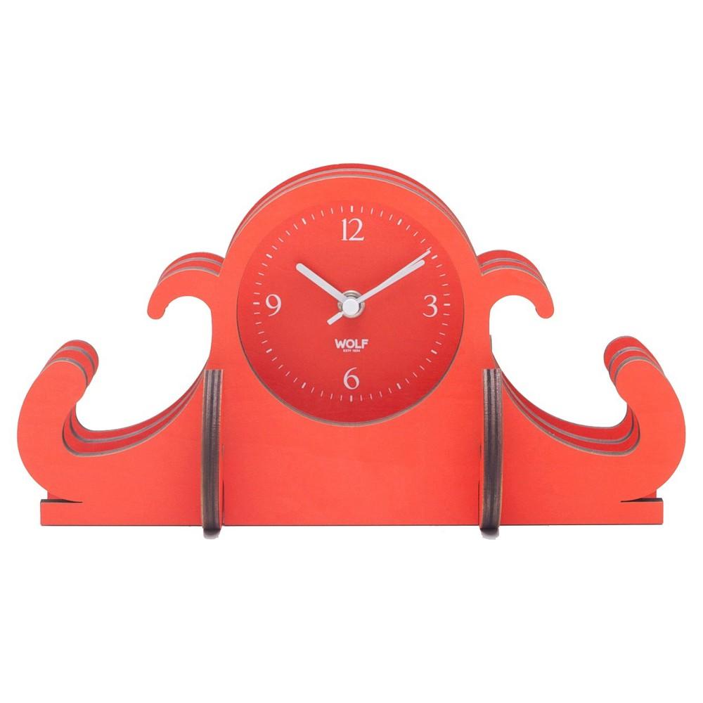 Jigsaw Mantel Clock Orange - Wolf