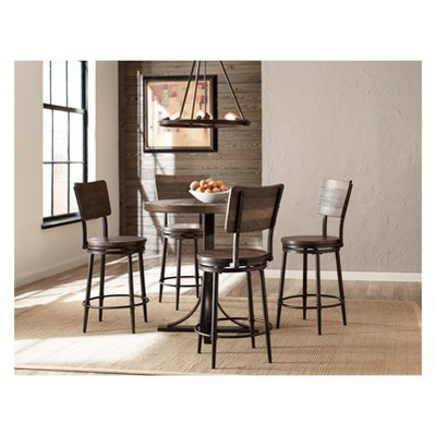 5pc Jennings Counter Height Dining Set Swivel Counter Height Stools Distressed Wood - Hillsdale Furniture