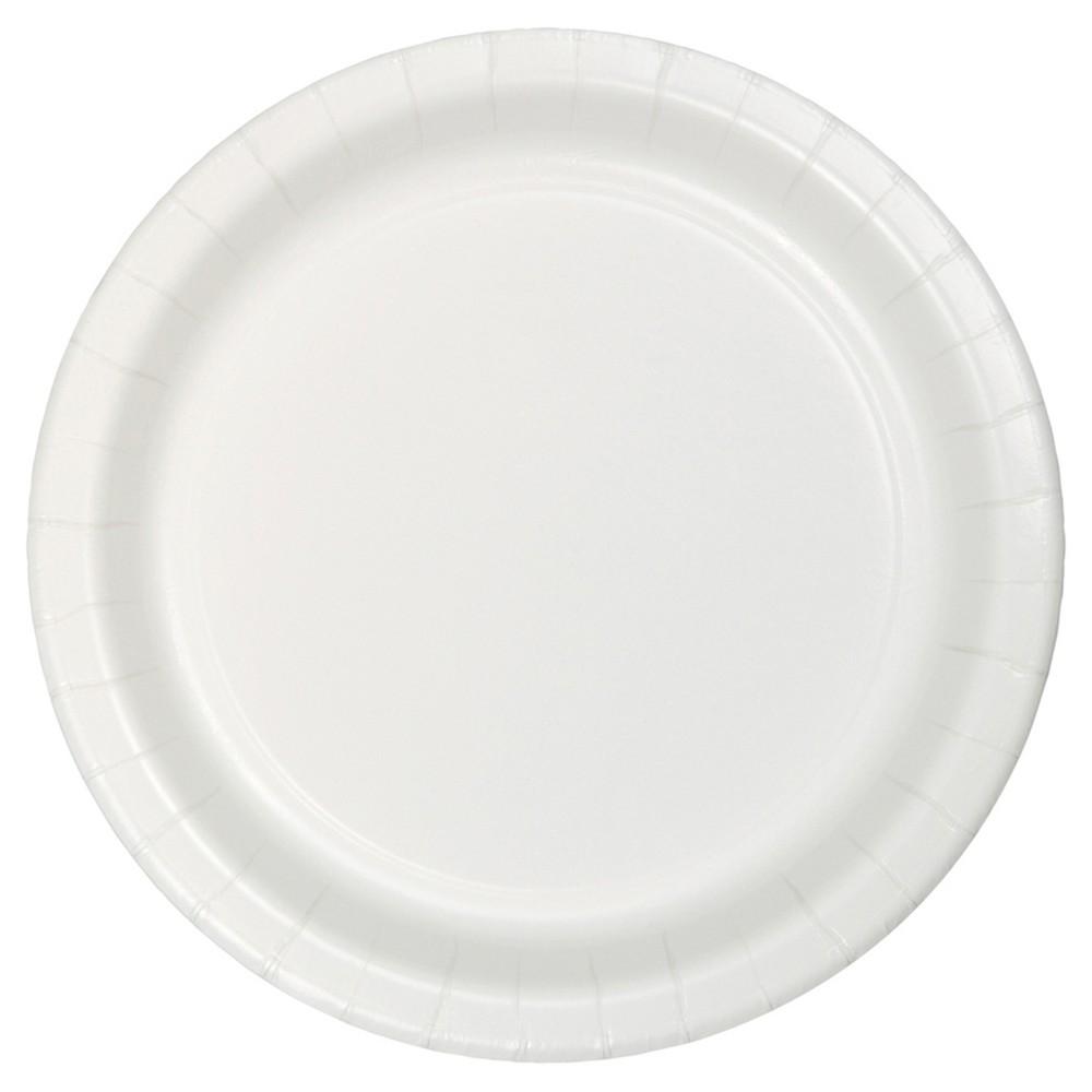 White 9 Paper Plates - 24ct