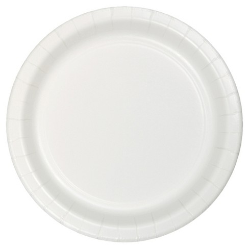"White 9"" Paper Plates - 24ct - image 1 of 1"
