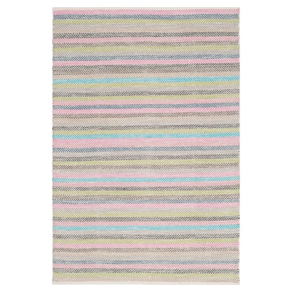 Striped Kilim Rug - Light Gray- (5'x8') - Safavieh, Light Gray/Multi