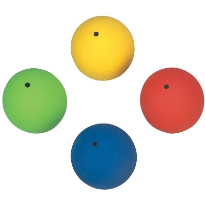 Sportime Elementary PVC Shot Puts, 14 and 17.6 oz, Assorted Colors, set of 4