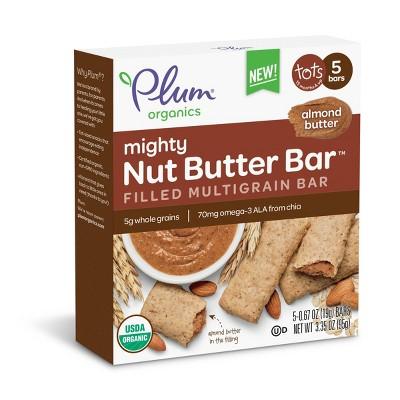 Baby & Toddler Snacks: Plum Organics Nut Butter Bar