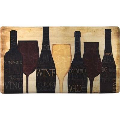"Home Dynamix 19"" x 35"" Wine Silhouette Kitchen Mat Brown"
