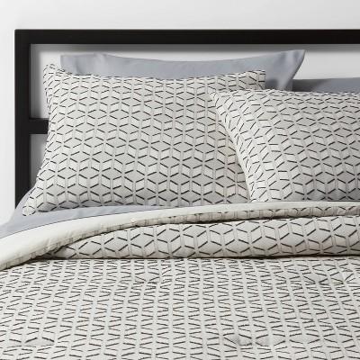 Cream Clipped Geometric Comforter Set - Project 62™ + Nate Berkus™
