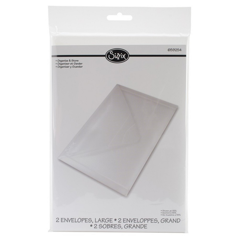 "Image of ""Sizzix Plastic File Folder Envelopes-Clear 6.25""""x9"""""""