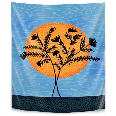 Sunset Silhouette By Modern Tropical Wall Tapestry Target