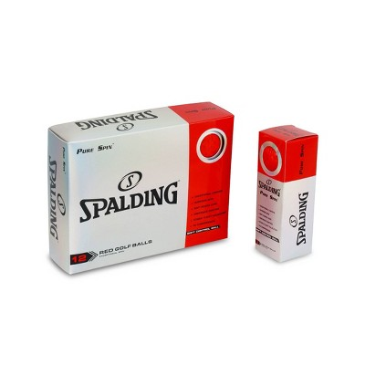 Spalding Pure Spin Golf Balls 24pc - Red
