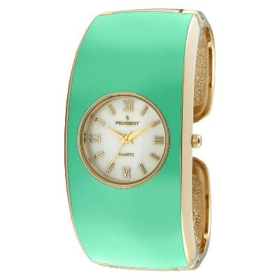 Women's Peugeot Enamel Cuff Watch