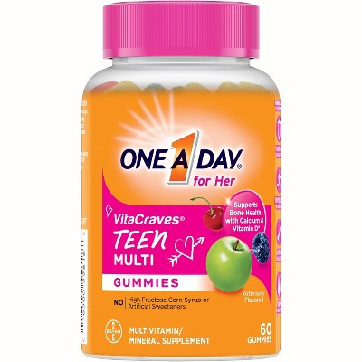 One A Day Teen Multivitamin Gummies for Her - 60ct