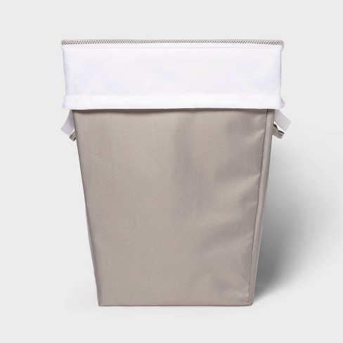Laundry Hamper with Lift Liner Gray - Room Essentials™ - image 1 of 4