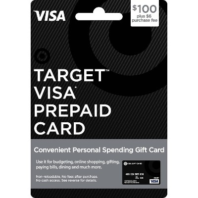 Visa Prepaid Card - $100 + $6 Fee