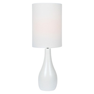 Quatro Table Lamp Brushed White (Lamp Only)- Lite Source