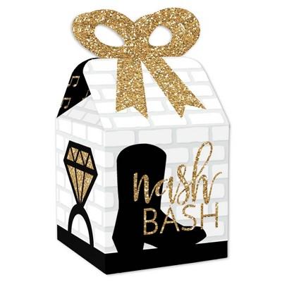 Big Dot of Happiness Nash Bash - Square Favor Gift Boxes - Nashville Bachelorette Party Bow Boxes - Set of 12