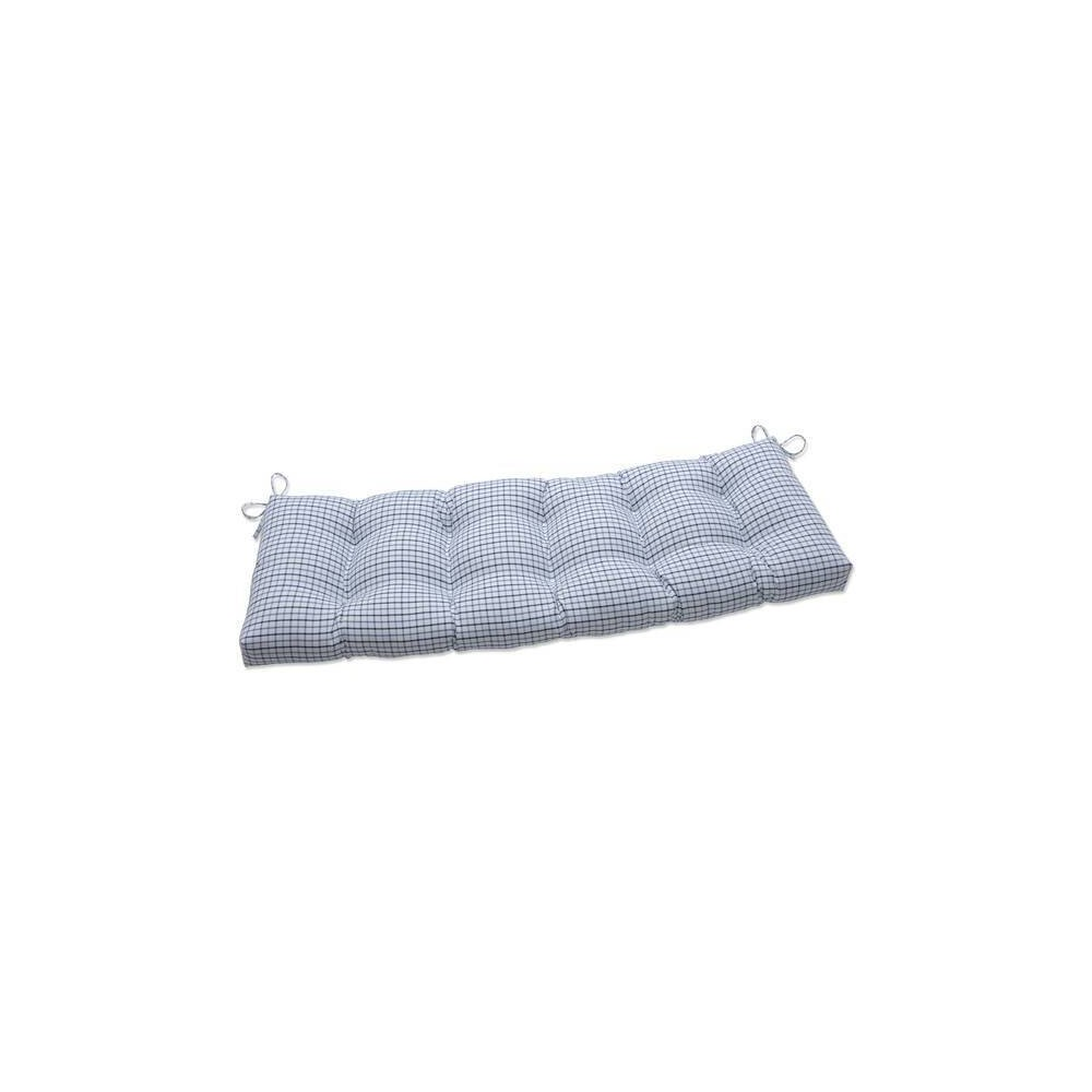 60 34 X 18 34 Outdoor Indoor Tufted Bench Swing Cushion Nash Lapis Blue Pillow Perfect