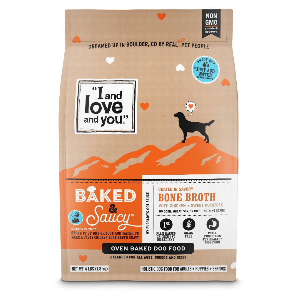 I and Love and You Baked & Saucy Grain Free with Chicken & Sweet Potatoes Holistic Dry Dog Food - 4lbs