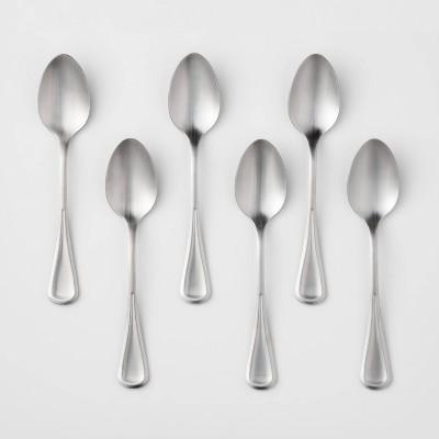 6pk Stainless Steel Olisa Satin Dinner Spoons - Threshold™
