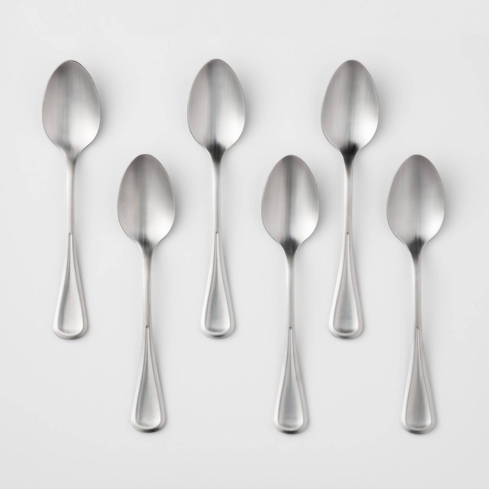 Image of 6pk Stainless Steel Olisa Satin Dinner Spoons - Threshold