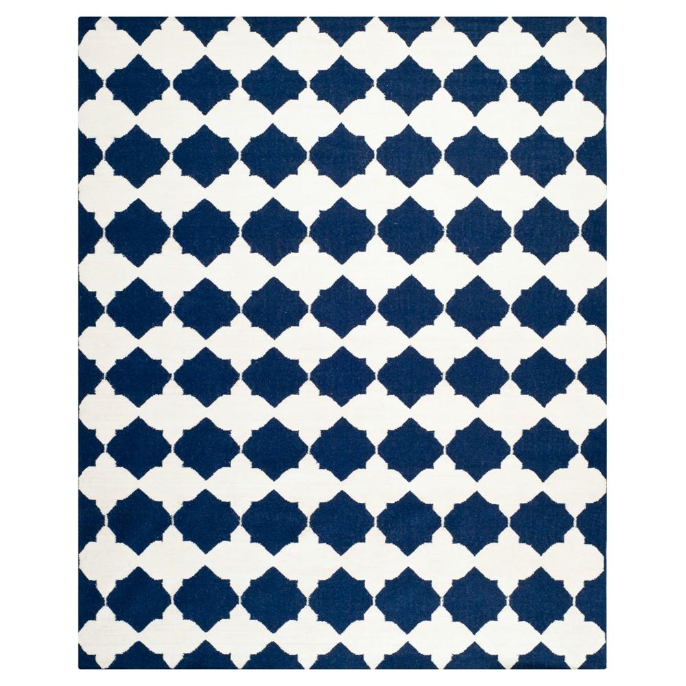 Negah Dhurry Rug - Navy/Ivory (Blue/Ivory) - (9'x12') - Safavieh