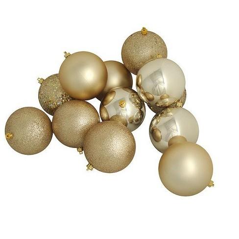 Christmas Ornament Sets.Northlight 48ct Shatterproof 4 Finish Christmas Ball Ornament Set 3 Gold