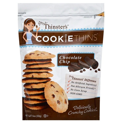 Mrs Thinster's Chocolate Chip Cookie Thins - 4oz - image 1 of 1