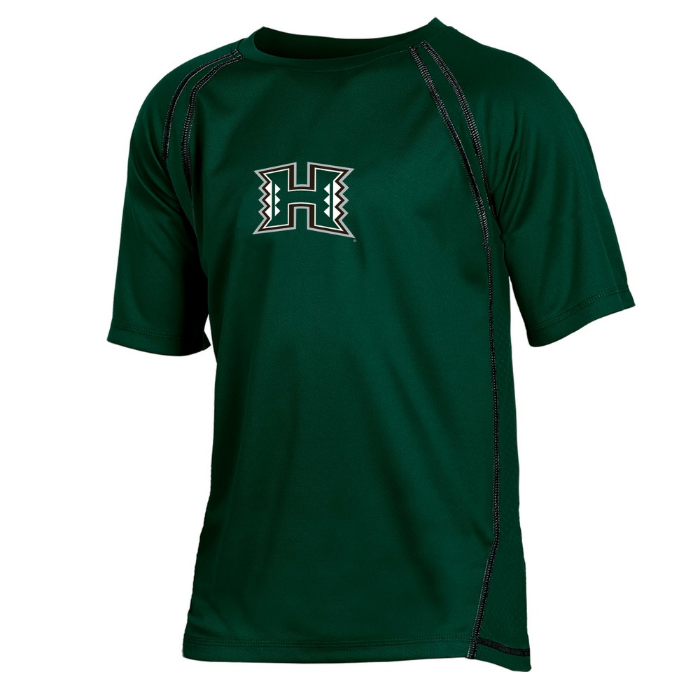 Hawaii Rainbow Warriors Boys' Impact Poly Performance T-Shirt L, Multicolored
