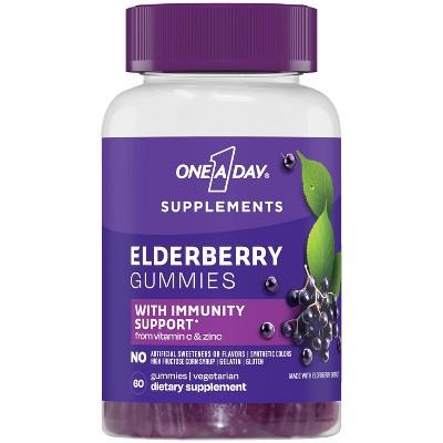 One A Day Elderberry Gummy Supplements - 60ct
