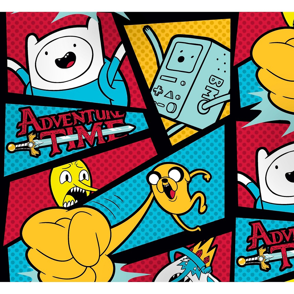 """Image of """"Adventure Time Framed with Dots, Fleece, 59/60"""""""" Width, Fabric by the Yard"""""""