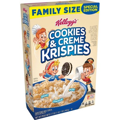 Kellogg's Rice Krispies Cookies and Cream Cereal Family Size - 17oz