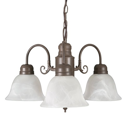 Yosemite 3-Light Chandelier - Dark Brown - image 1 of 6
