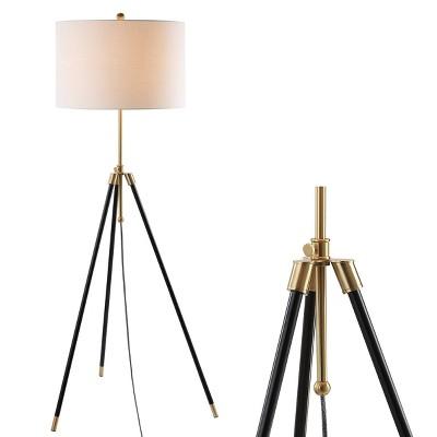 "67"" Adjustable Metal Lucius Floor Lamp (Includes LED Light Bulb) Black - JONATHAN Y"