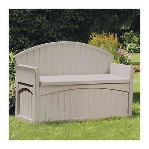Suncast 50 Gallon Patio Bench Large Outdoor Durable Resin Garden Storage Box Target