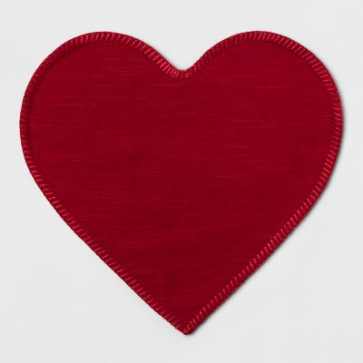 Heart Shaped Placemat Red - Opalhouse™