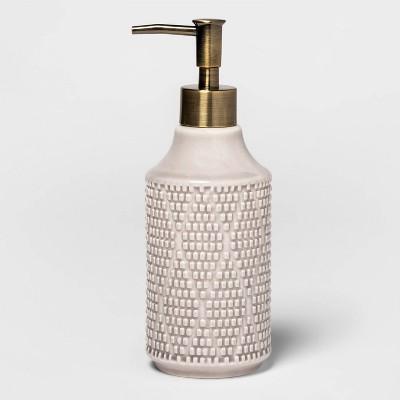 Canby Ceramic Soap Pump Tan - Threshold™