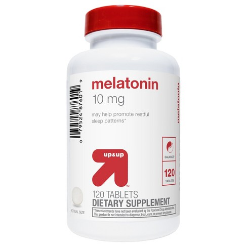Melatonin Dietary Supplement Tablets - 120ct - Up&Up™ - image 1 of 3
