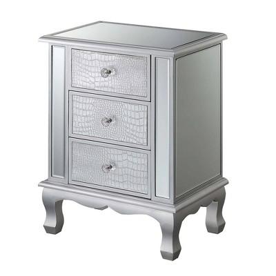Gold Coast Vineyard 3 Drawer Mirrored End Table - Johar Furniture