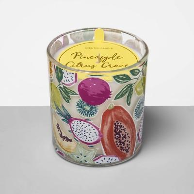 5.5oz Printed Glass Jar Candle Pineapple Citrus Grove - Opalhouse™