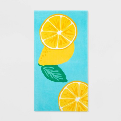 Lemon Placed Beach Towel - Sun Squad™