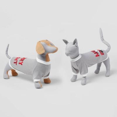Holiday 'Merry & Bright' Dog and Cat Sweatshirt - Heathered Gray - Wondershop™