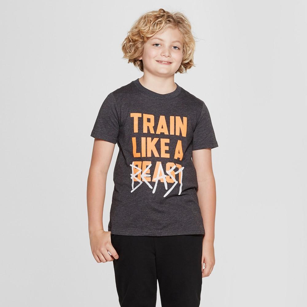 Boys' Short Sleeve Train Like A Beast Graphic T-Shirt - Cat & Jack Black L