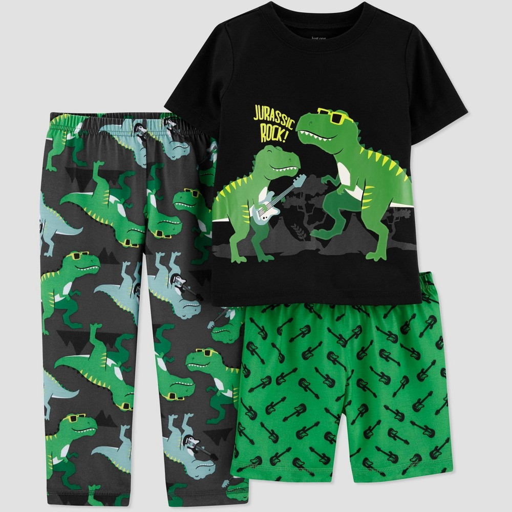 Image of Baby Boys' 3pc 'Dino' Pajama Set - Just One You made by carter's Green 12M, Boy's